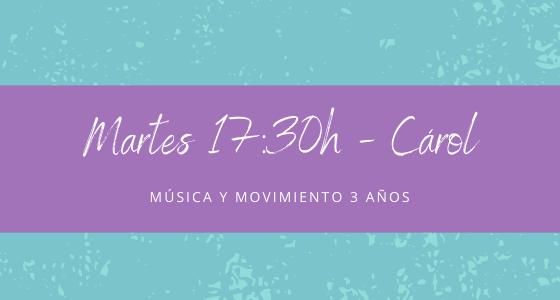 Protegido: 19 de enero (17:30h) Carol- Música y movimiento: 3 años