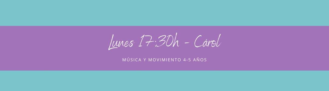 Protegido: 28 de septiembre (17:30h) Carol – Música y movimiento: 4-5 años