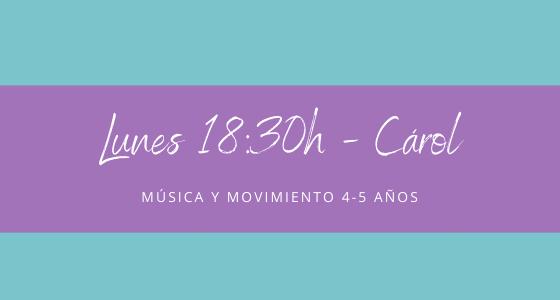 Protegido: 18 de enero (18:30h) Carol- Música y movimiento: 4-5 años
