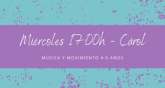 Protegido: 20 de enero (17:00h) Carol- Música y movimiento: 4-5 años
