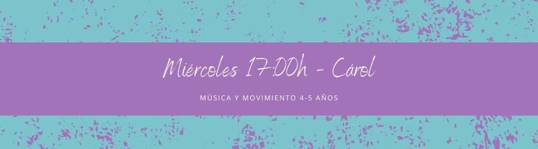 Protegido: 25 de noviembre (17:00h) Carol- Música y movimiento: 4-5 años