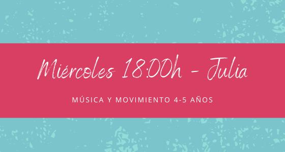Protegido: 24 de febrero (18:00h) Julia – Música y movimiento 4-5 años