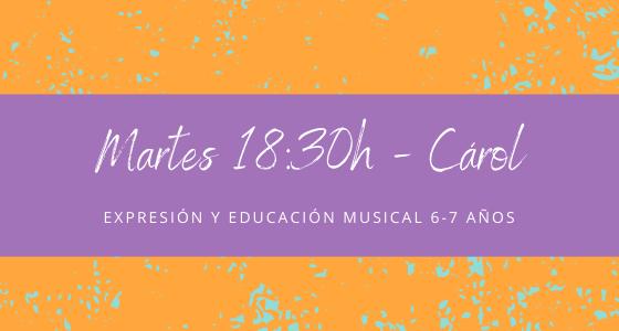 Protegido: 1 de junio (18:30h) Carol-Expresión y educación musical: 6-7 años  Copia