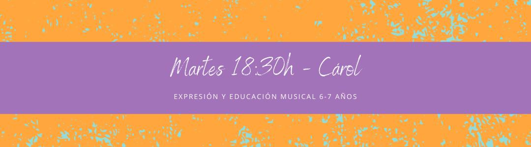 Protegido: 16 de febrero (18:30h) Carol-Expresión y educación musical: 6-7 años  Copia