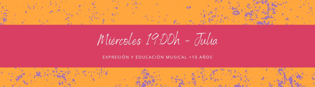 Protegido: 3 de septiembre (19:00h) Julia – Expresión y educación musical: +10 años